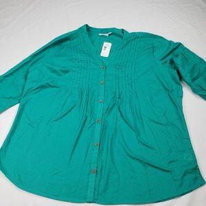 Woman's Indigo size 2X long sleeve/roll tab rayon